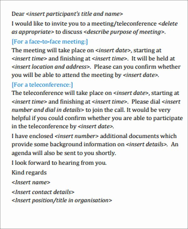 Meeting Invitation Email Template New 68 Meeting Invitation Templates Psd Word Ai