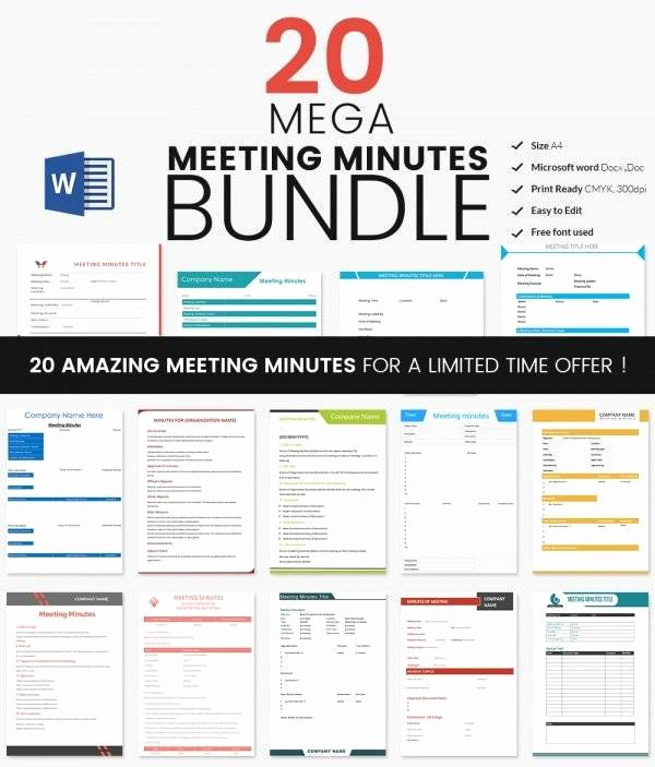 Meeting Minutes Template Excel Awesome Meeting Minutes Template 28 Download Free Documents In