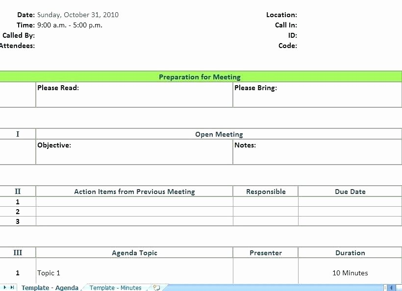 Meeting Minutes Template Excel Awesome Weekly Team Meeting Excel Template Agenda
