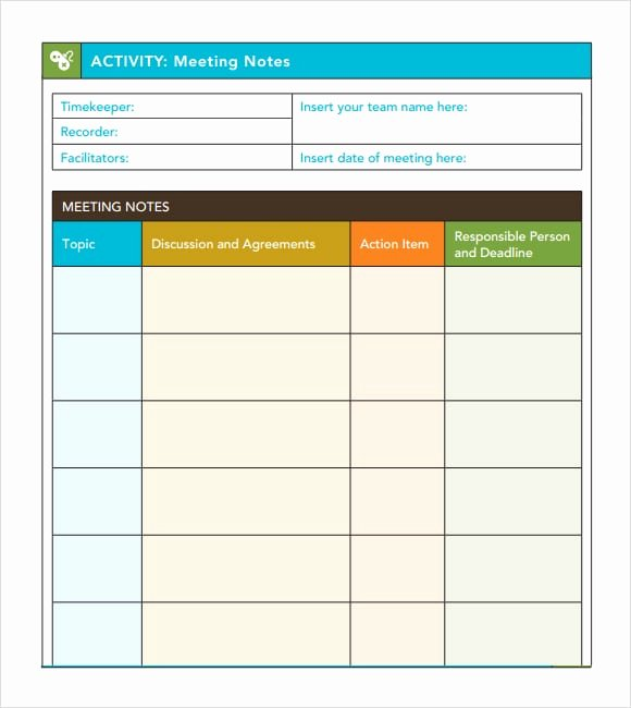 Meeting Minutes Template Excel Beautiful 7 Free Meeting Minutes Templates Excel Pdf formats