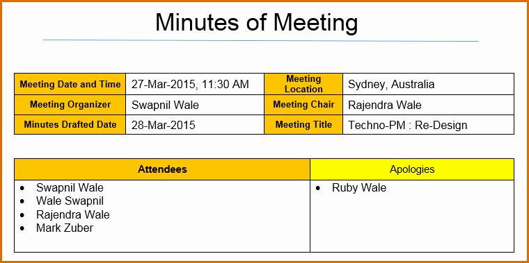 Meeting Minutes Template Excel Best Of 12 Meeting Minutes Template Excel