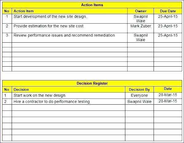 Meeting Minutes Template Excel Elegant Meeting Minutes Template Excel Free Download Contractor