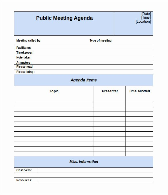 Meeting Note Template Word Awesome 50 Meeting Agenda Templates Pdf Doc