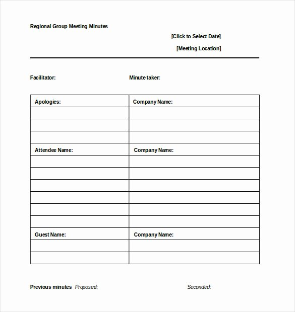 Meeting Note Template Word Inspirational 26 Minutes Templates Word Excel Pdf