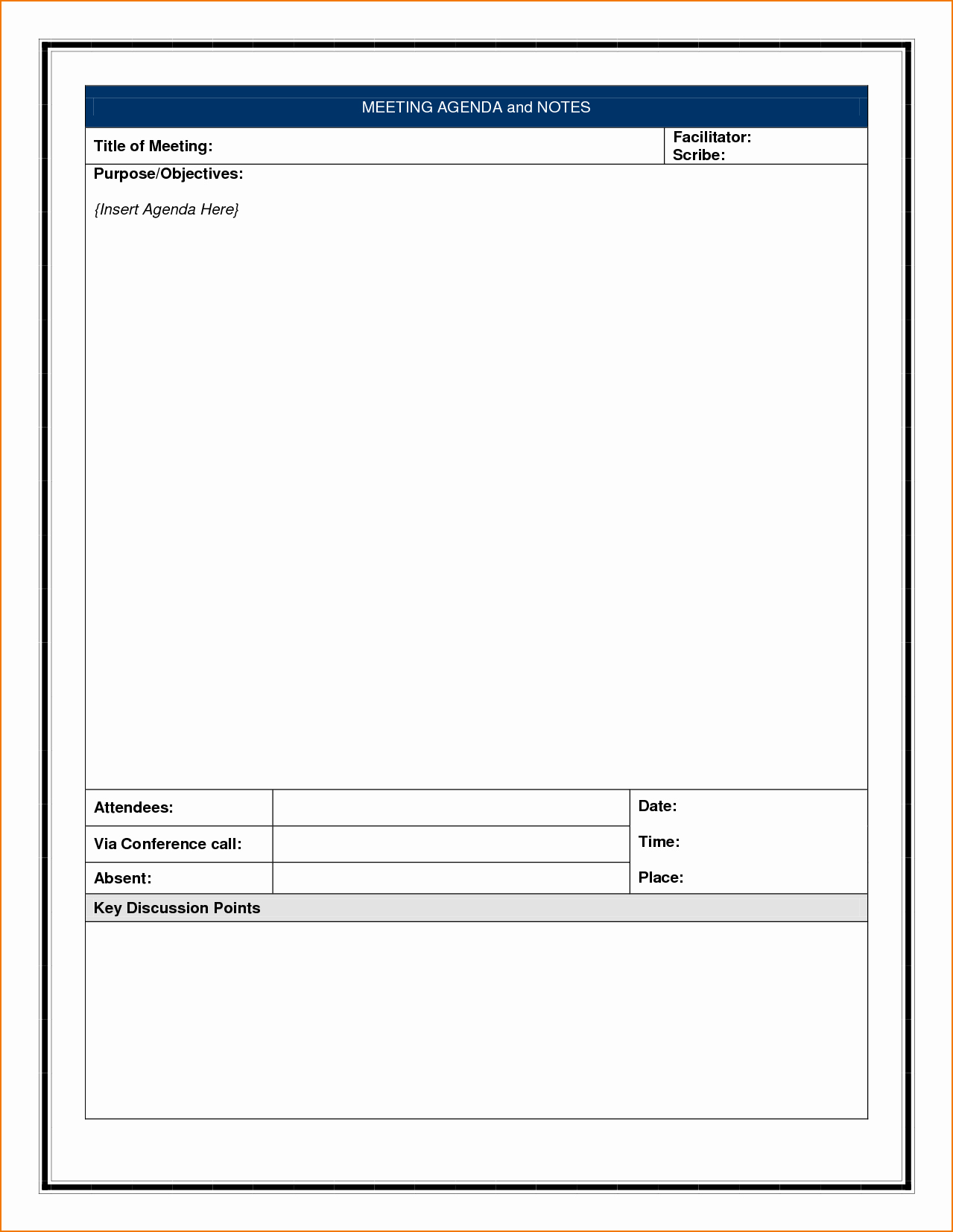 Meeting Note Template Word Luxury 4 Meeting Notes Template