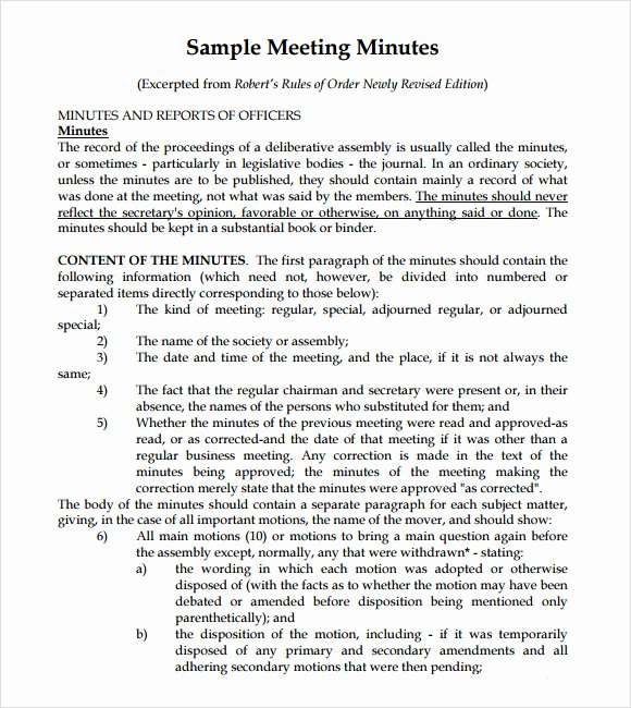 Meeting Note Template Word Unique Meeting Notes Template 9 Download Free Documents In Pdf