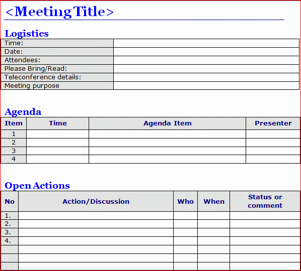 Meeting Note Template Word Unique Minutes Of Meeting Template Word