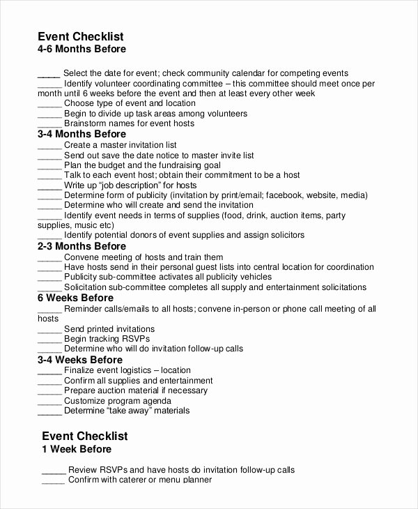 Meeting Planner Checklist Template Elegant event Planning Checklist 11 Free Word Pdf Documents