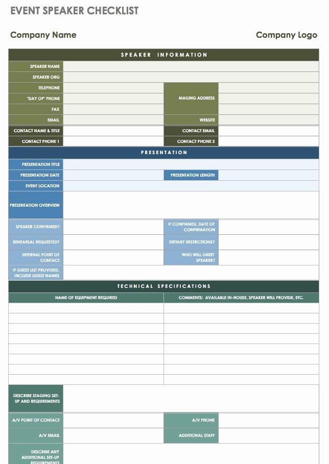 Meeting Planner Checklist Template Lovely 21 Free event Planning Templates