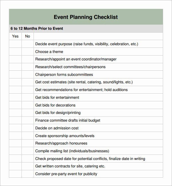 Meeting Planner Checklist Template Unique 11 Sample event Planning Checklists – Pdf Word