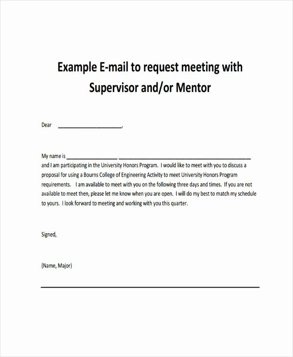 Meeting Request Email Template Awesome 7 Meeting Email Examples Pdf