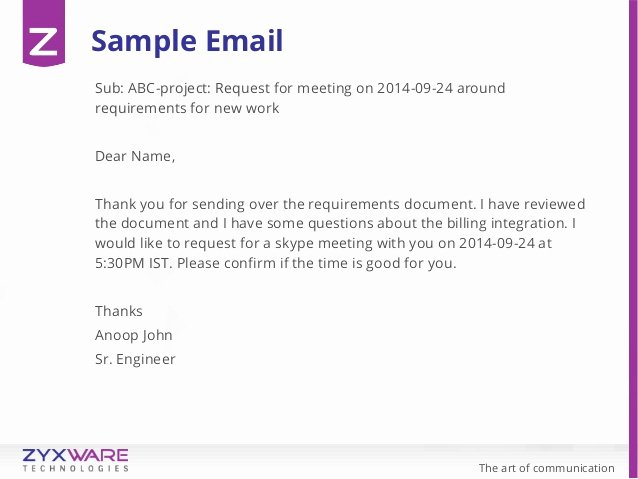 Meeting Request Email Template Beautiful the Art Of Munication Managing Digital Munication