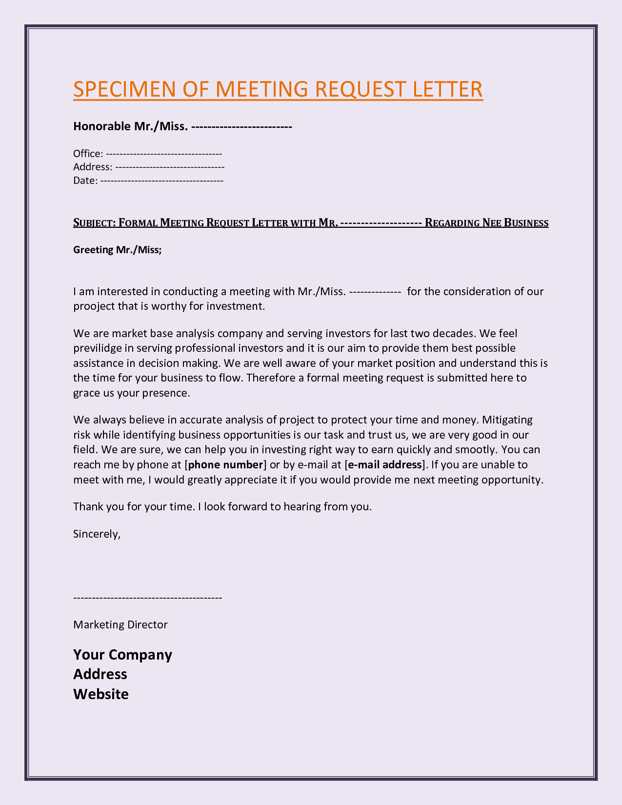 Meeting Request Email Template Luxury Business Invitation Template Example Mughals