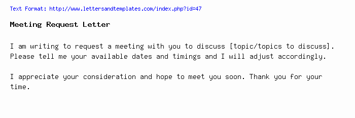 Meeting Request Email Template Luxury Meeting Request Email and Letter Sample