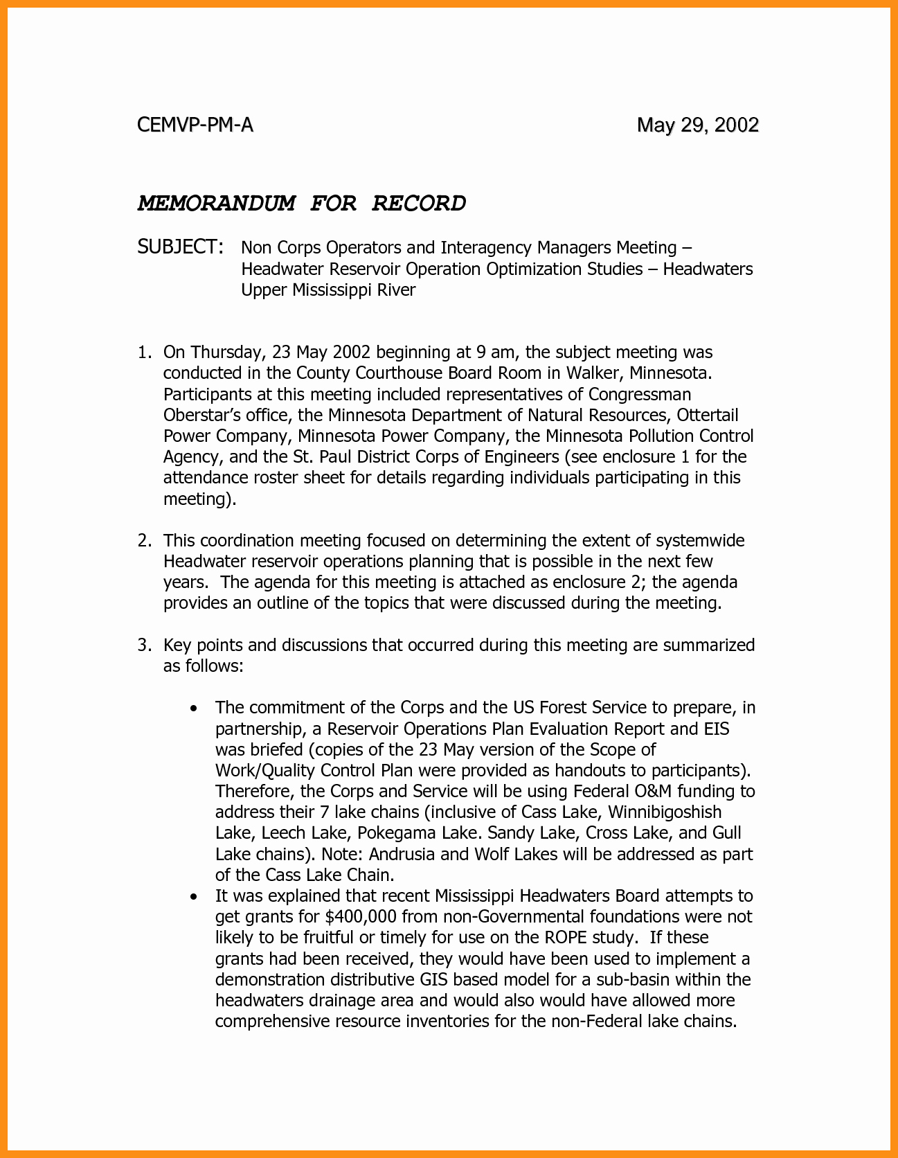 Memorandum Of Record Template Elegant 7 8 Memorandum for Record Army Example Wlc