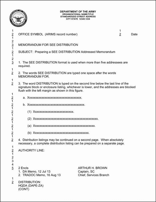 Memorandum Of Record Template Inspirational Army Memorandum Template