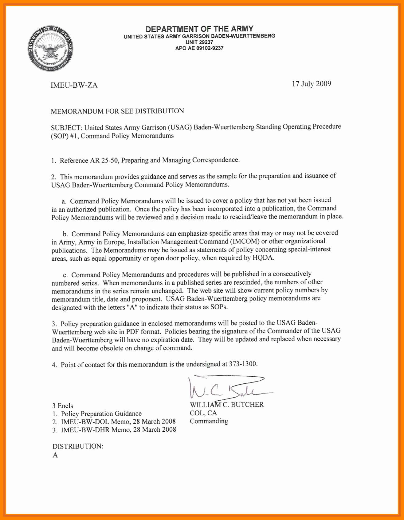 Memorandum Of Record Template New 15 Memorandum Of Record Army