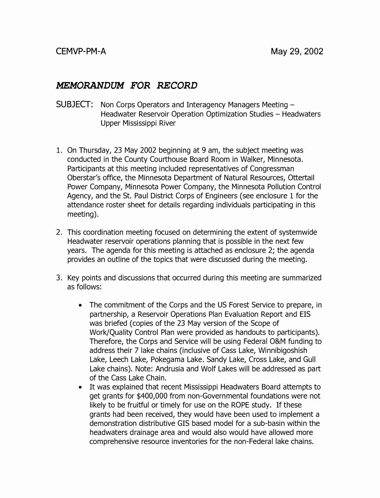Memorandum Of Record Template New 7 Army Memorandum for Record Template Word Awruy