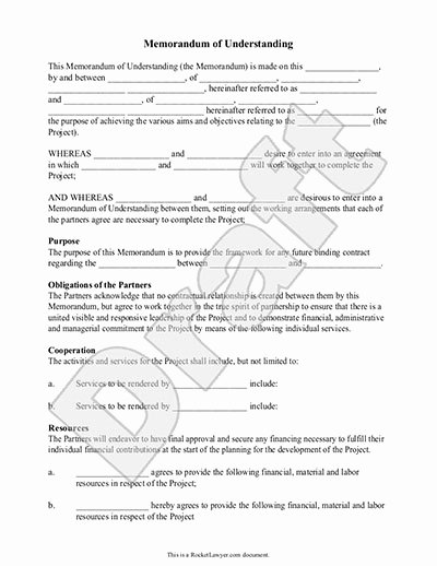 Memorandum Of Sale Template Beautiful Memorandum Of Understanding form Mou Template with Sample
