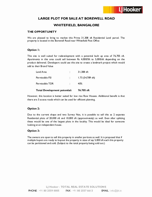 Memorandum Of Sale Template Best Of Information Memorandum Borewell Road Property