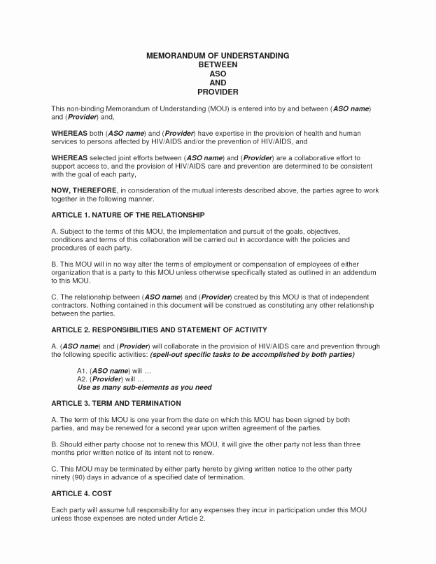Memorandum Of Sale Template Elegant Business Partner Contract Mughals