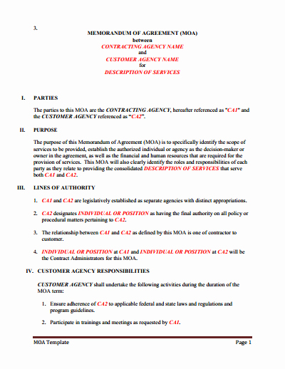 Memorandum Of Sale Template Elegant Memorandum Of Understanding Download Edit Fill & Print