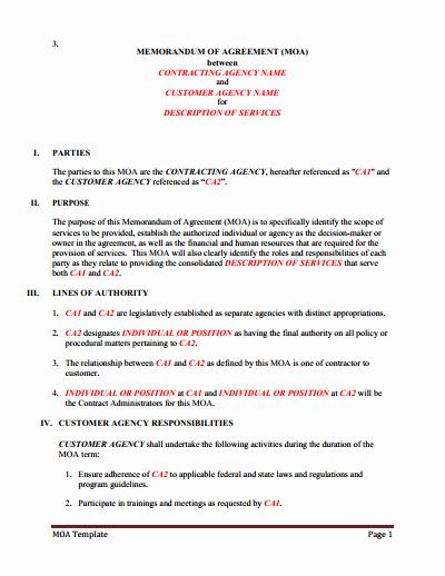 Memorandum Of Sale Template Elegant Memorandum Of Understanding Download Edit Fill & Print