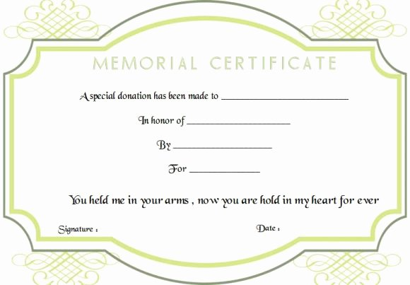 Memorial Donation Letter Template Best Of 22 Legitimate Donation Certificate Templates for Your Next