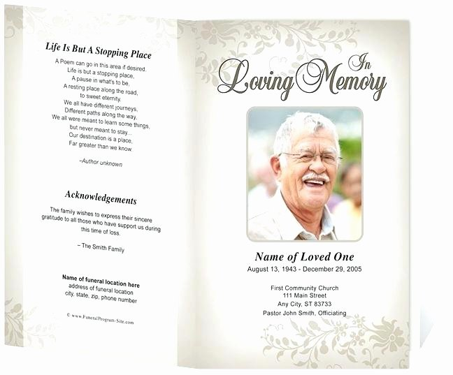 Memorial Pamphlet Template Free Awesome Lds Funeral Program Template Word Free Pamphlet to