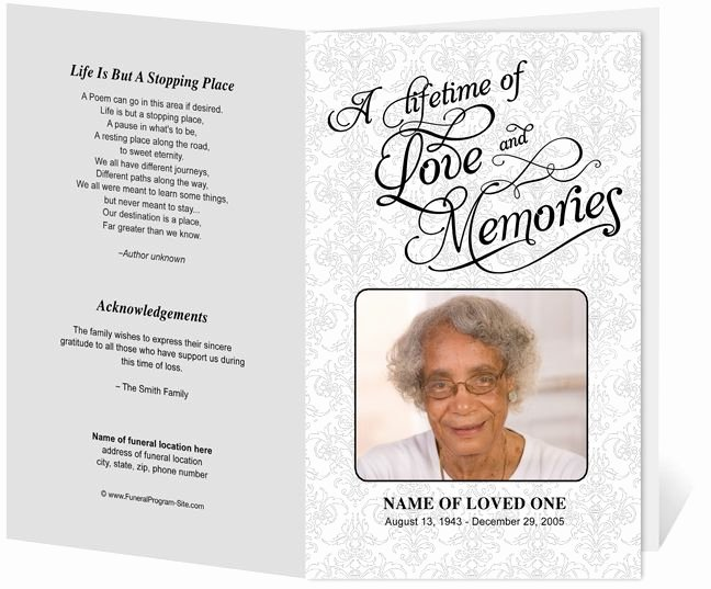 Memorial Pamphlet Template Free Beautiful 218 Best Images About Creative Memorials with Funeral