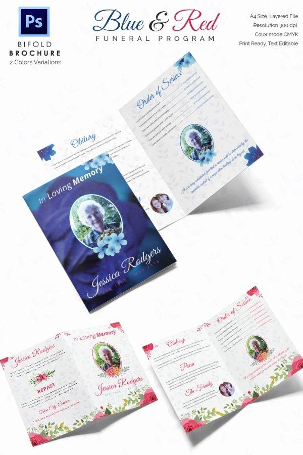 Memorial Pamphlet Template Free Beautiful 30 Funeral Program Brochure Templates – Free Word Psd