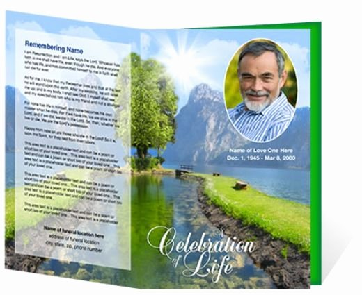 Memorial Pamphlet Template Free Beautiful Funeral Brochure Template Free Microsoft