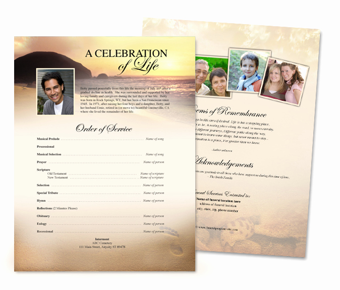 Memorial Pamphlet Template Free Beautiful Memorial Service Flyer Template New Showroom E Stop