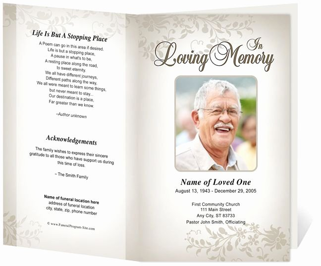 Memorial Pamphlet Template Free Best Of 214 Best Creative Memorials with Funeral Program Templates