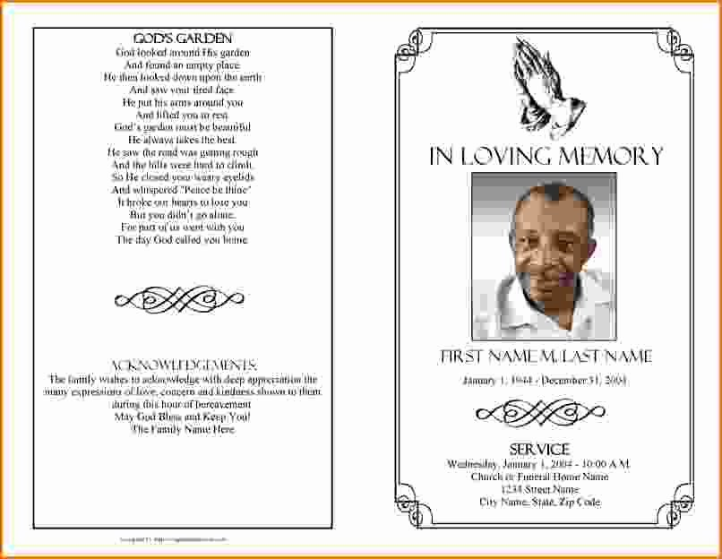Memorial Pamphlet Template Free Best Of Memorial Service Program Template Microsoft Word