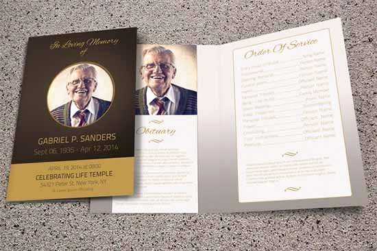 Memorial Pamphlet Template Free Fresh Funeral Program Template 30 Download Free Documents In