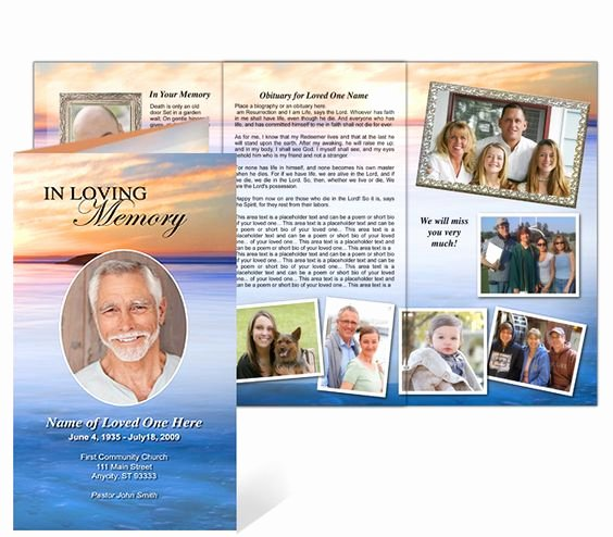 Memorial Pamphlet Template Free Lovely Funeral Memorial Pamphlet In Trifold Brochure Layout and
