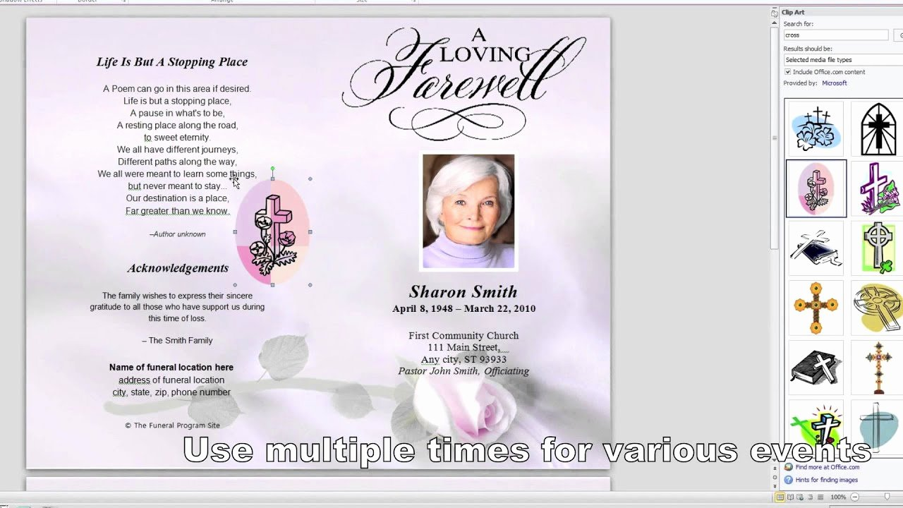 Memorial Pamphlet Template Free Unique How to Customize A Funeral Program Template