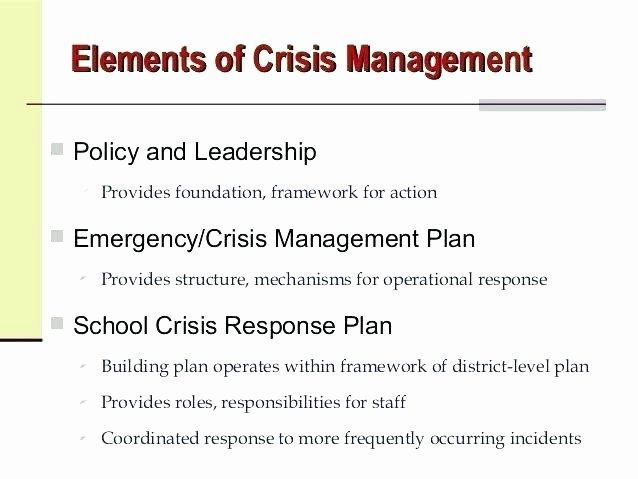 Mental Health Crisis Plan Template Luxury School Crisis Management Plan Template Crisis Plan