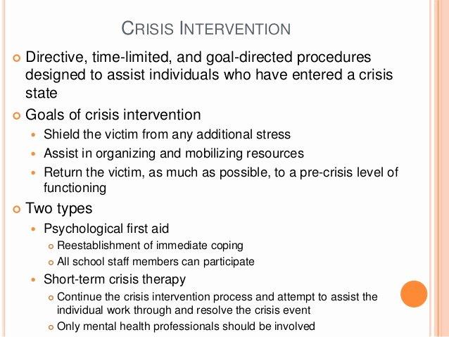 Mental Health Crisis Plan Template New Mental Health Crisis Plan Template
