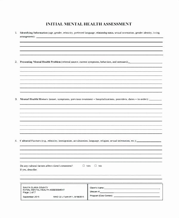 Mental Health Intake form Template Beautiful Mental Health Intake form Template Client Invoice with