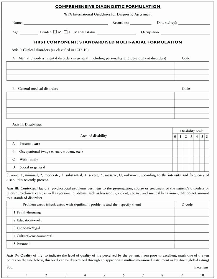 Mental Health Intake form Template Unique Fresh S Mental Health Intake assessment form Template