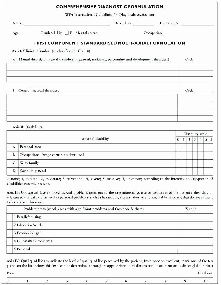 Mental Health Intake form Template Unique Fresh S Mental Health Intake assessment form Template