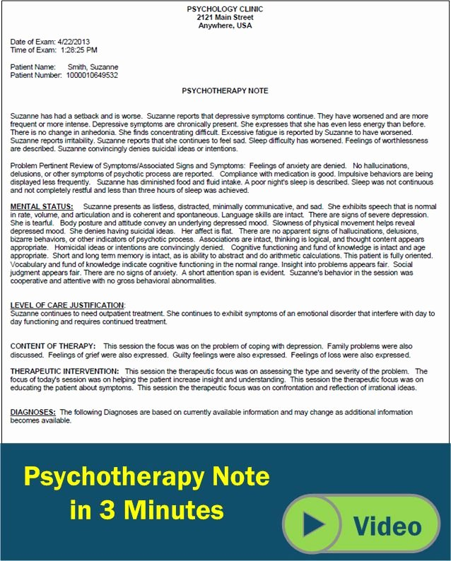 Mental Health Progress Note Template Elegant Psychotherapy Progress Notes Template Google Search