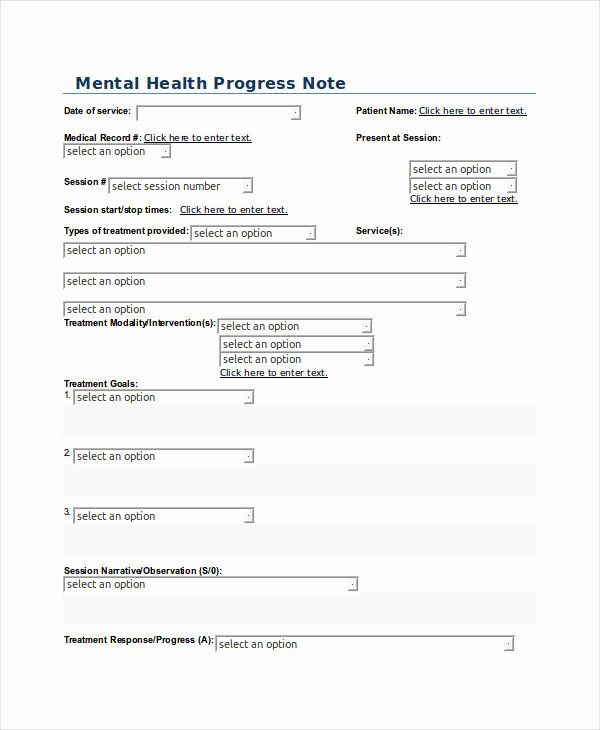 Mental Health Progress Note Template Unique 19 Progress Note Examples & Samples Pdf Doc