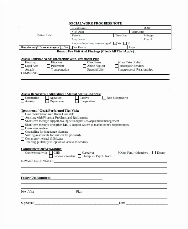 Mental Health Progress Note Template Unique Mental Health Treatment Plan Template Word Psychotherapy