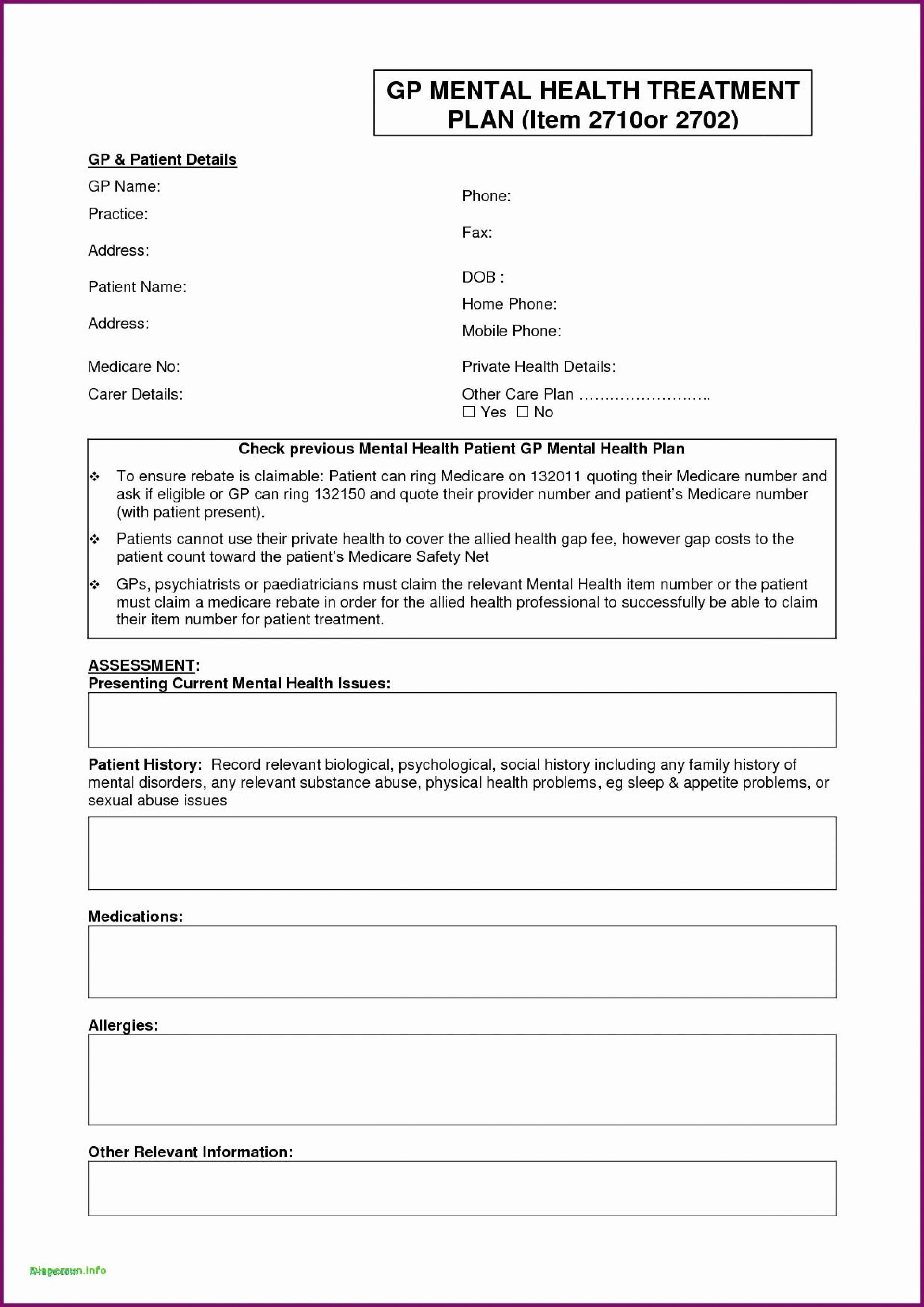 Mental Health Treatment Plan Template Awesome 013 Treatment Plan Template Mental Health Vatel Luxury