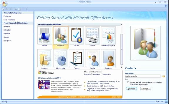 Microsoft Access 2007 Template Elegant Outlook Synchronizing and Internet Maps In the Access 2007