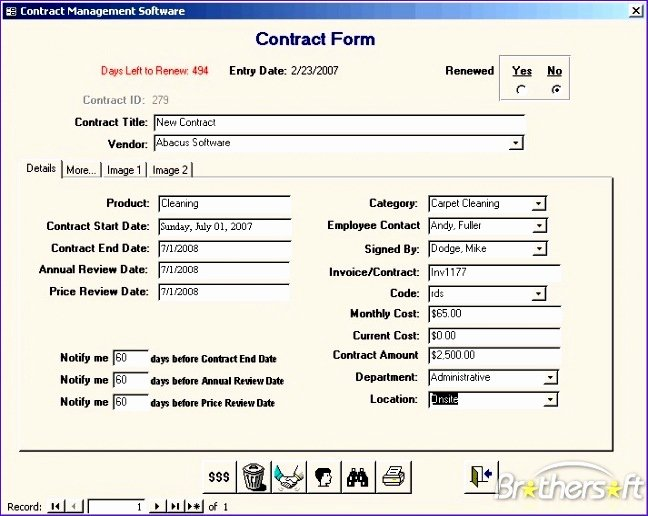 Microsoft Access Crm Template Free Lovely Microsoft Access Contract Management Database Template