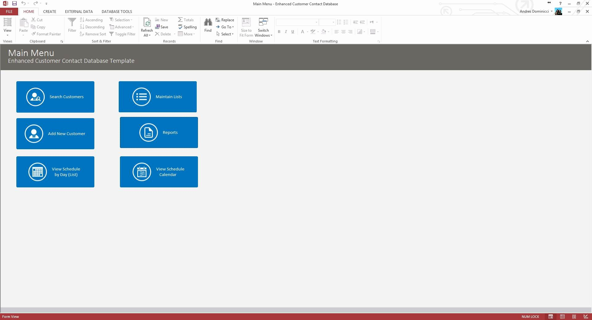 Microsoft Access Customer Database Template Lovely Customer Database Template Access Spreadsheet Templates